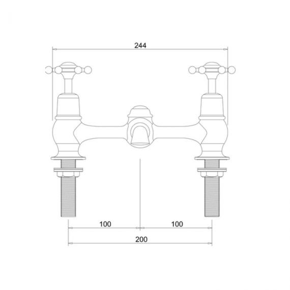 Burlington Birkenhead 2 Tap Hole Bridge Basin Mixer Specification