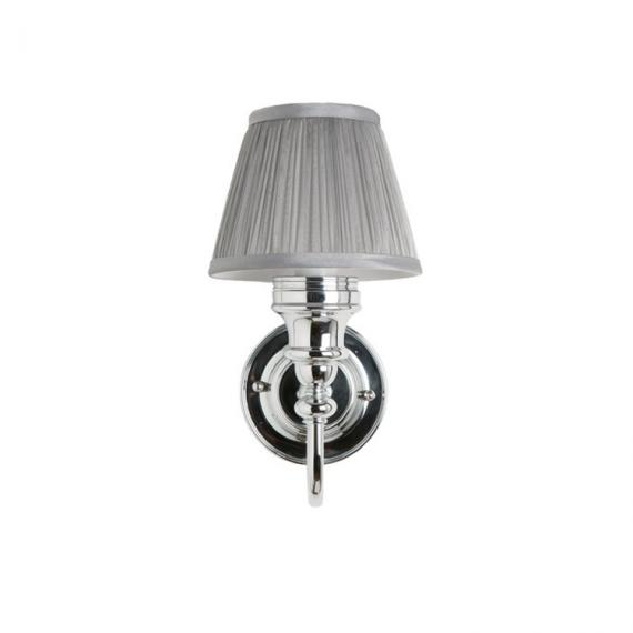 Burlington Ornate Chrome Light with Fine Pleated White Shade