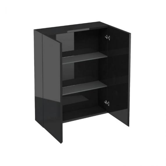 aqua cabinets 600mm black gloss wall cabinet bathroom storage c20b