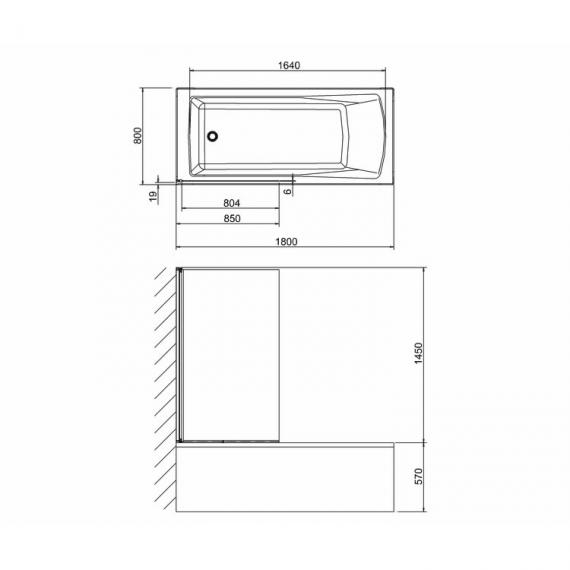 Cleargreen Hinged Bathscreen - Spec