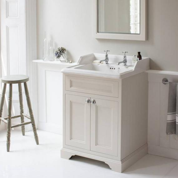 Burlington Matt White 650mm Freestanding Unit & Classic Basin