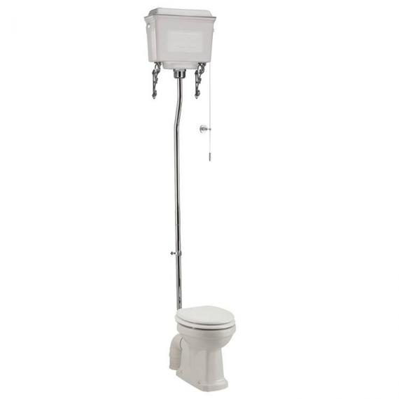 Burlington High Level Toilet With White Aluminium Cistern