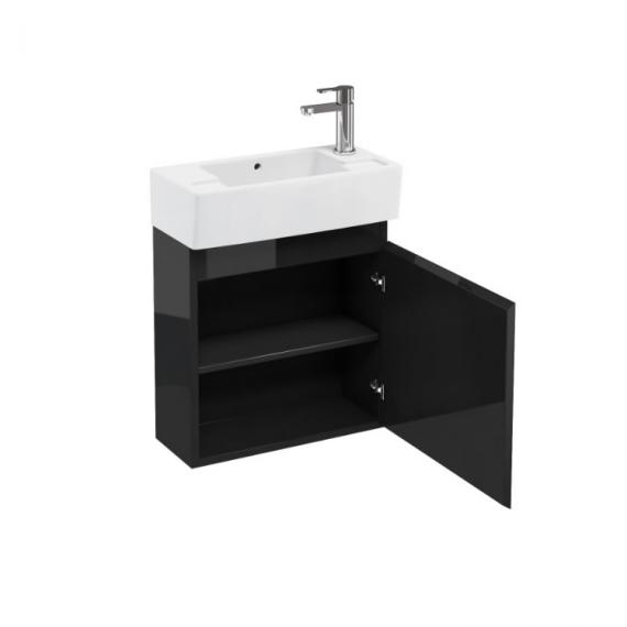 Aqua Cabinets Black Compact Wall Hung Unit & Basin