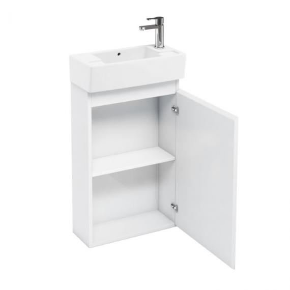 Aqua Cabinets White Compact Floor Standing Unit & Basin