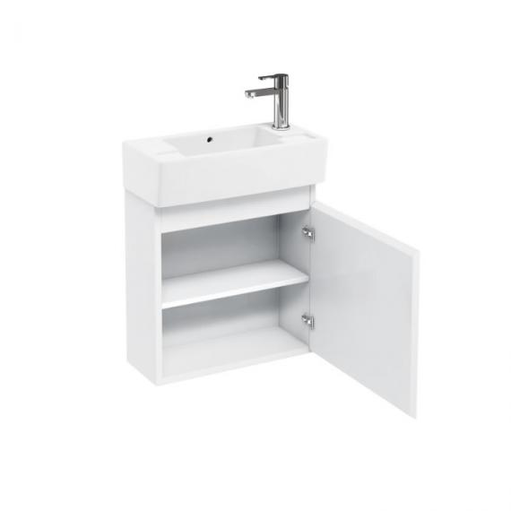 Aqua Cabinets White Compact Wall Hung Unit & Basin