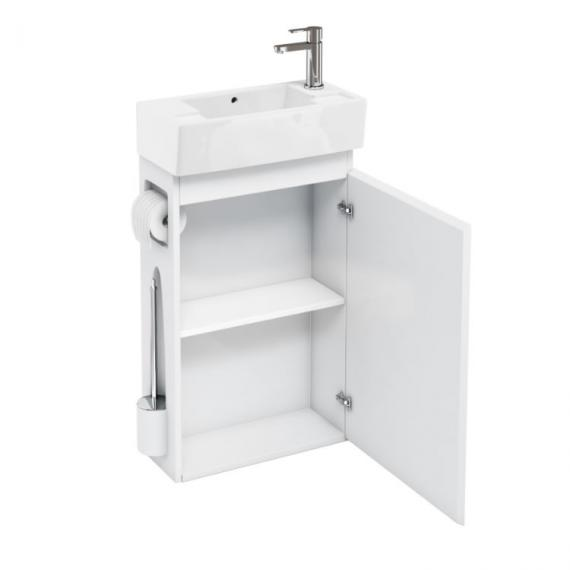 Aqua Cabinets White All In One Cloakroom Unit & Basin