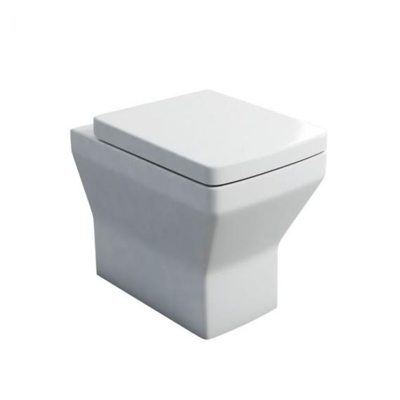 Britton Bathrooms Cube Back To Wall WC and Seat