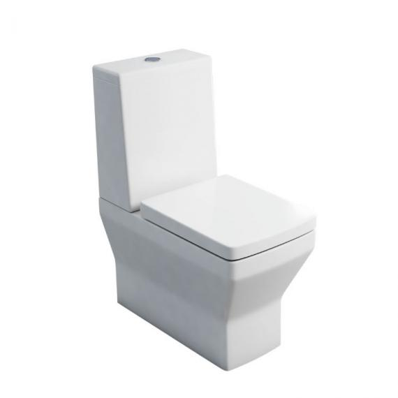 Britton Bathrooms Cube Back To Wall Close Coupled Toilet and Seat