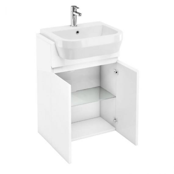 Aqua Cabinets D300 Fitted White 600mm Unit & Basin