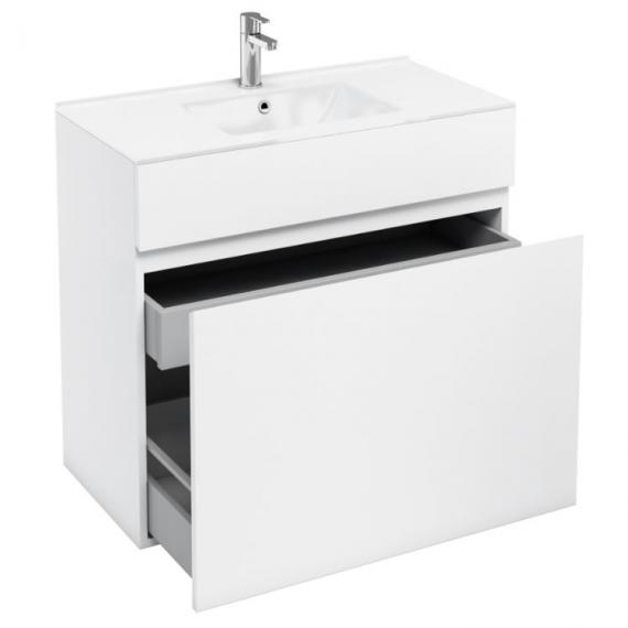Aqua Cabinets D450 White 900mm Double Drawer Unit & Basin