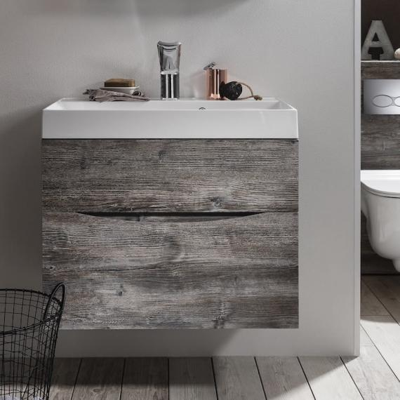 Bauhaus Glide Ii Driftwood 700mm Bathroom Vanity Unit And