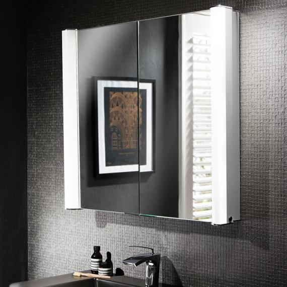 Bauhaus Duo 800mm Led Illuminated Recess Mirrored Cabinet Mirrored Bathroom Cabinets With