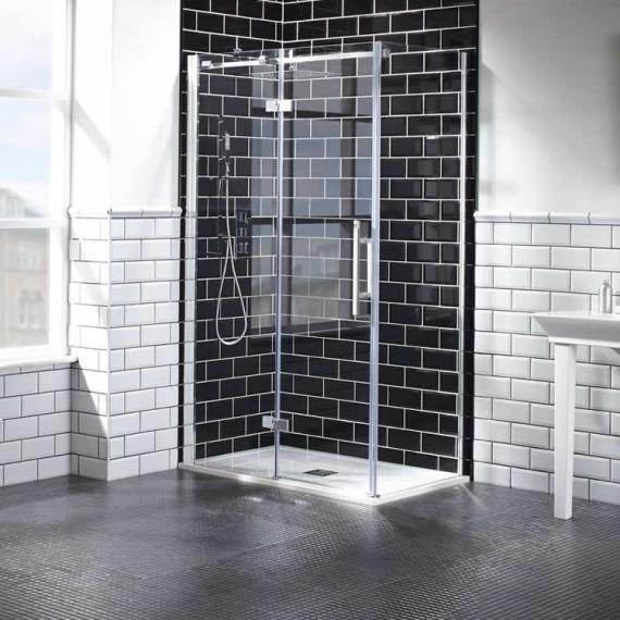Aquaglass+ Elegance 8mm Hinged Door & Inline Panel - LH