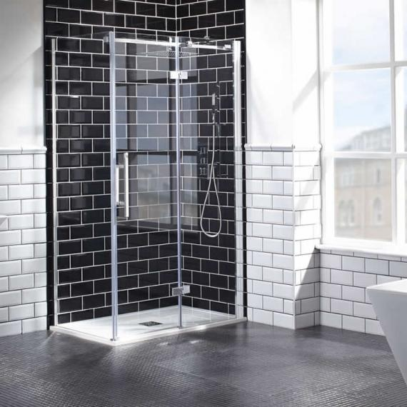 Aquaglass+ Elegance 8mm Hinged Door & Inline Panel - RH