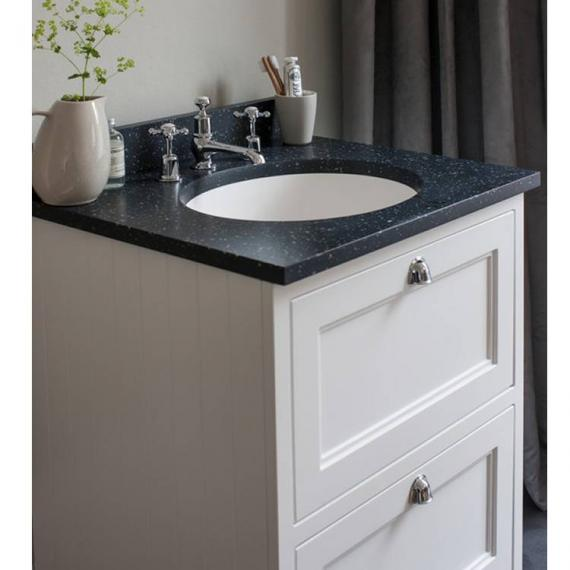 Burlington Matt White 650mm Freestanding Unit, Minerva Worktop & Basin