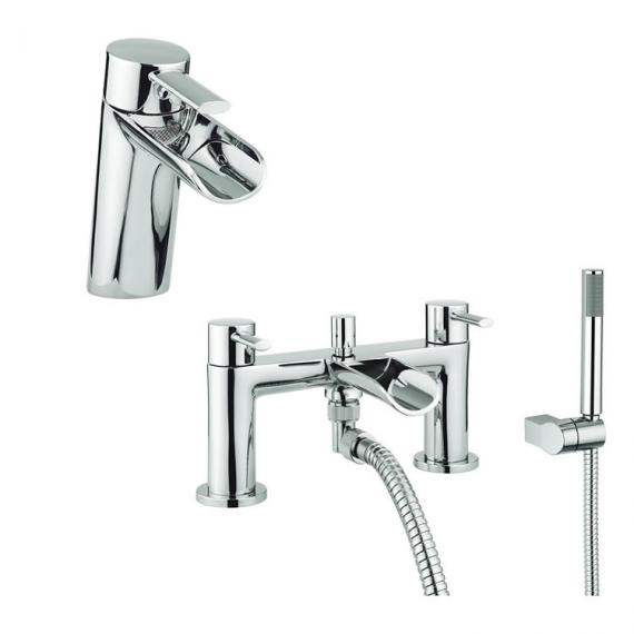 Adora Flume Basin Mono & Bath Shower Mixer Tap Pack