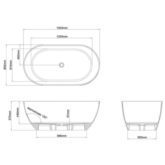 Clearwater Formoso Piccolo Freestanding Bath Specification