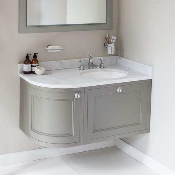 Burlington Olive 1000mm Right Hand Curved Vanity Unit | Sanctuary ...