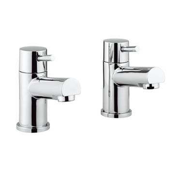 Adora Globe Bath Pillar Taps