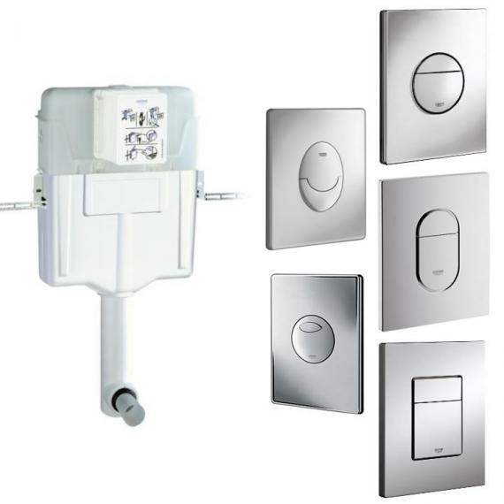 Grohe 1 2 Concealed Flushing Cistern Amp Flush Plate Grohe Cisterns Sanctuary Bathrooms