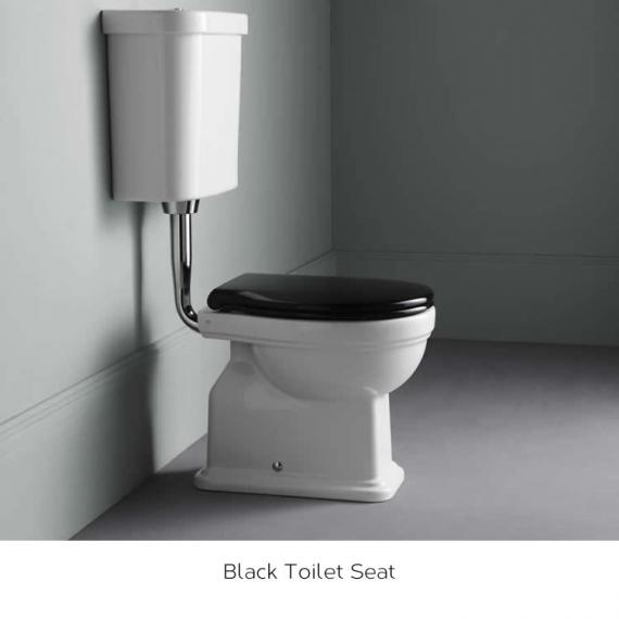 White Toilet With Black Seat. GSI Classic 54 Low Level WC  Cistern with Black Seat Sanctuary Bathrooms