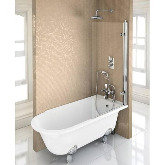 Burlington Hampton 1500 Freestanding Shower Bath - Right Hand