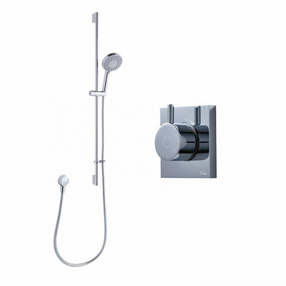 Crosswater Kai Single Outlet Digital Shower Valve with Pump and Central Shower - Low Pressure