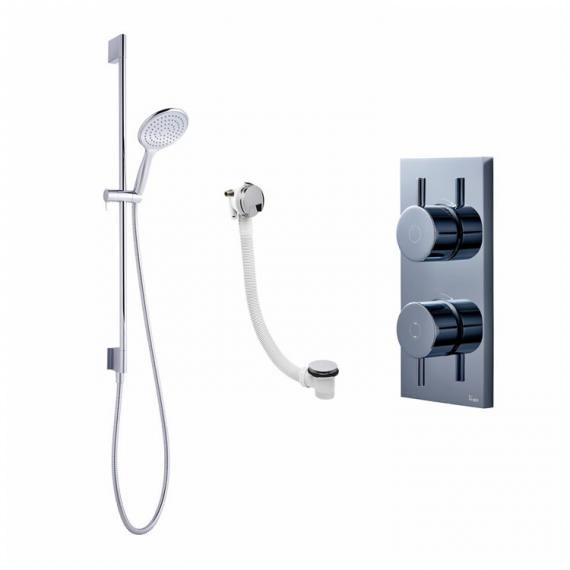Crosswater Kai Dual Outlet Digital Bath / Shower Valve with Svelte Shower and Bath Filler