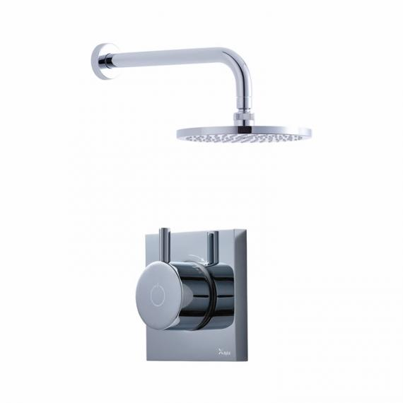 Crosswater Kai Single Outlet Digital Shower Valve with Pump & Fixed Head  - Low Pressure
