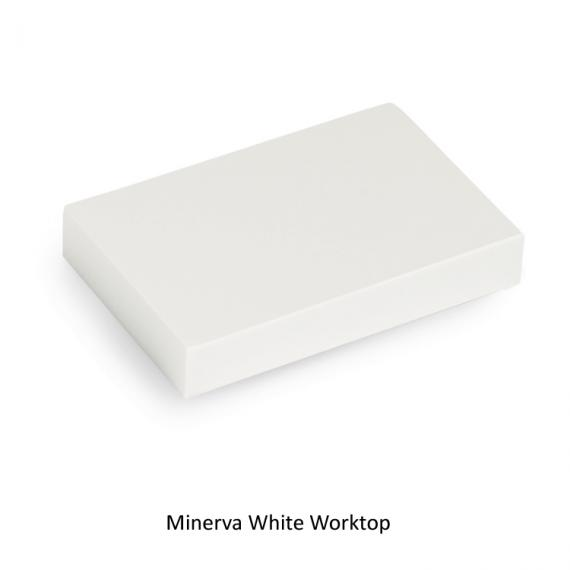 Burlington Minerva White Granite Worktop