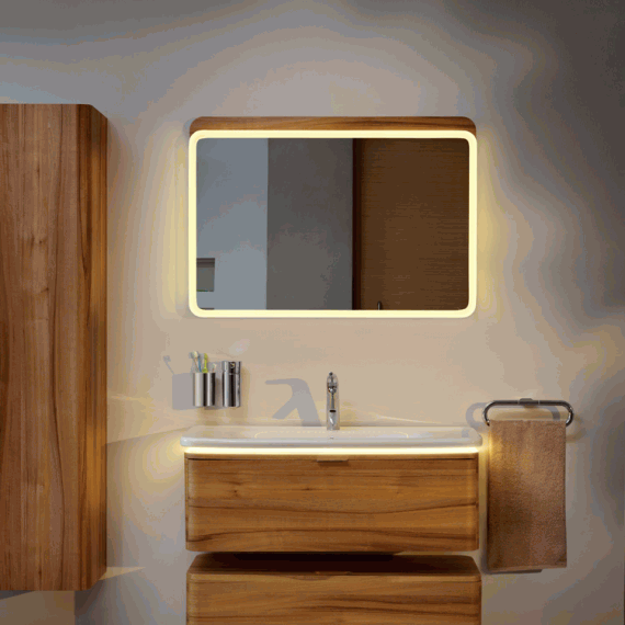 vitra designer nest 800mm led bathroom mirror sanctuary 10826