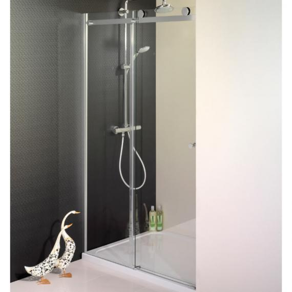 Semi frameless single sliding shower door sanctuary for 1200 door