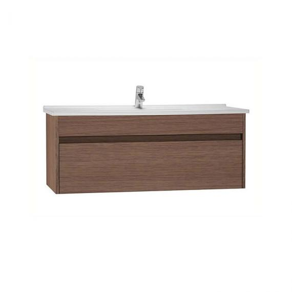 vitra s50 dark oak 60cm single drawer vanity unit basin. Black Bedroom Furniture Sets. Home Design Ideas