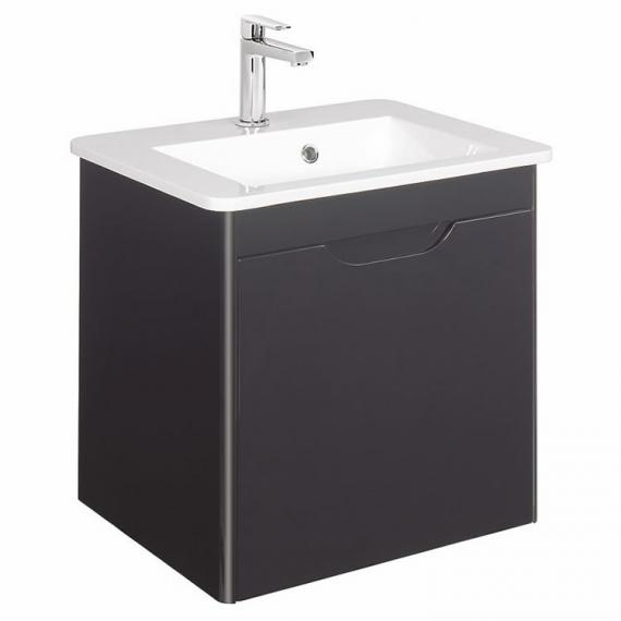 Bauhaus Solo Graphite 500mm Vanity Unit and Basin