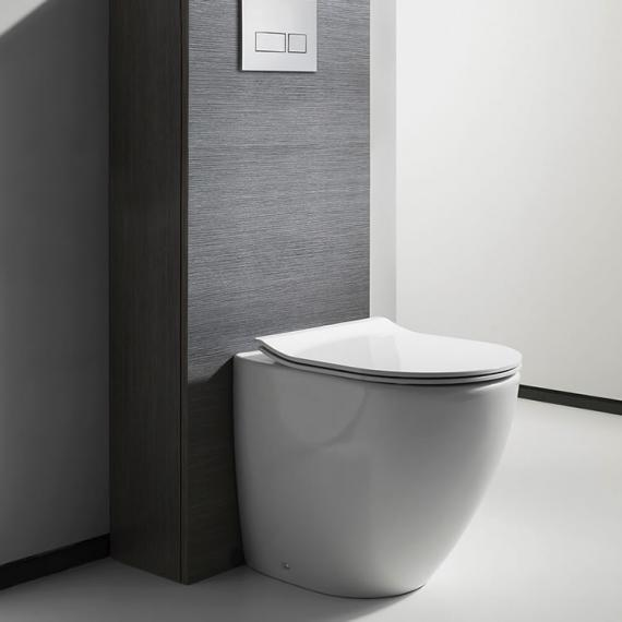 Bauhaus Svelte White Back to Wall Toilet & Soft Close Seat