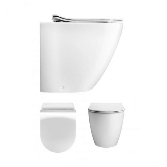 Svelte White Back to Wall Toilet