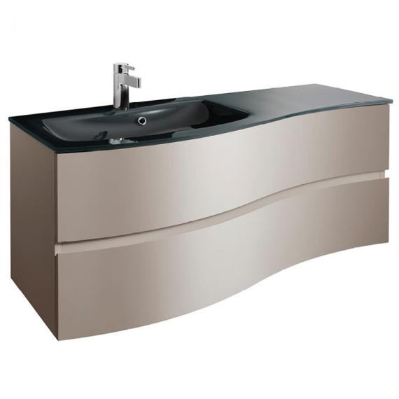 Bauhaus Svelte Matt Coffee 120 Vanity Unit & Charcoal Glass Basin