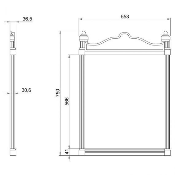 Burlington Georgian Mirror Specification
