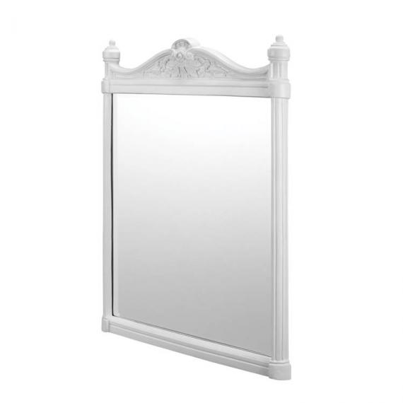Burlington Georgian Mirror White Aluminium Frame