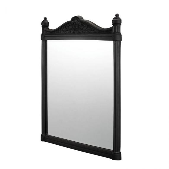 Burlington Georgian Mirror Black Aluminium Frame