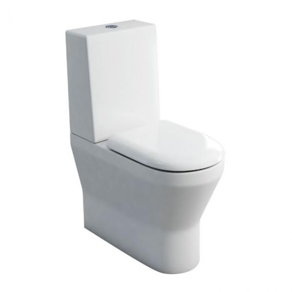 Britton Bathrooms Tall Close Coupled WC, One Piece Cistern & Seat