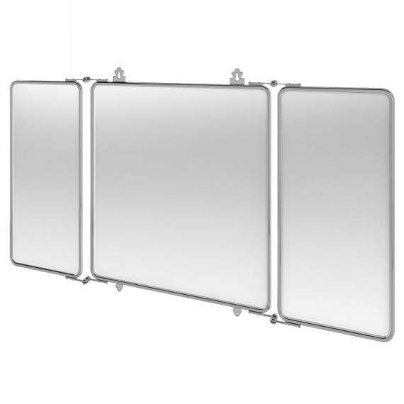 Bathroom Mirror Chrome arcade three fold chrome bathroom mirror - bathroom mirror