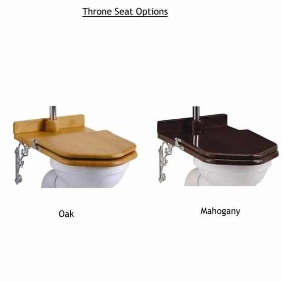 Burlington Throne Toilet Seat Options