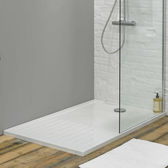 Photo of 1600 x 800 Walk In Shower Tray & Waste