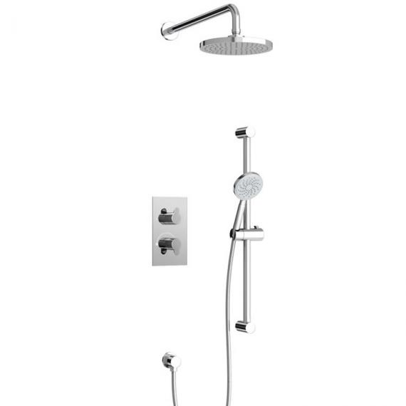 Britton Bathrooms Concealed Dual Outlet Thermostatic Shower Valve Kit