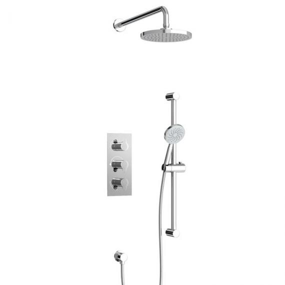 Britton Bathrooms Dual Thermostatic Shower Valve Kit with 3 Controls