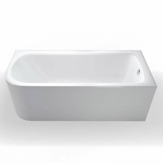 Britton Bathrooms Viride 1800 x 750mm Offset Bath - Right Hand
