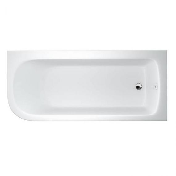 Britton Cleargreen Viride 1800 x 750mm Offset Bath - Right Hand