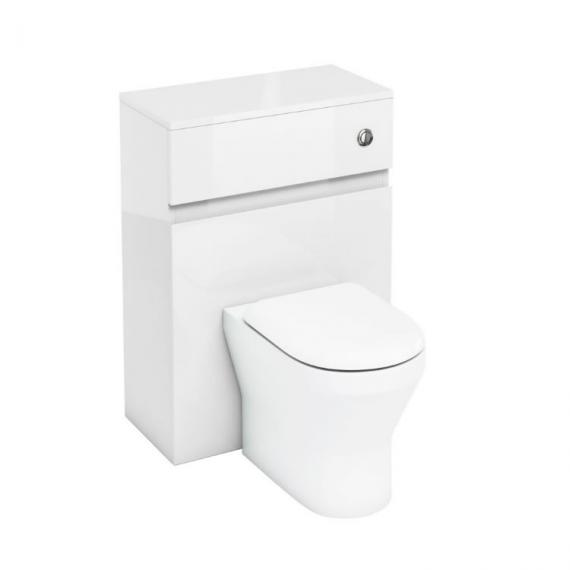 Aqua Cabinets 600mm White Back to Wall WC Unit