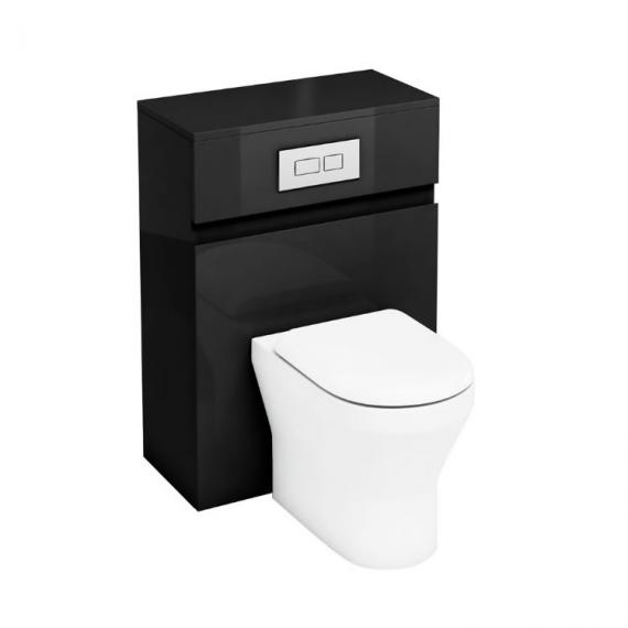 Aqua Cabinets 600mm Black Back to Wall WC Unit